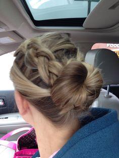 Braid and bun style