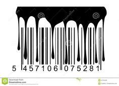 Zwarte De Verfdruppels Van De Streepjescode Vector Illustratie - Afbeelding: 22155406