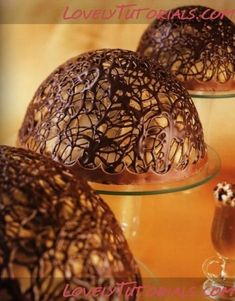 Chocolate lace bowls by janet63