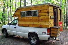 The Flying Tortoise: Simple And Delightful Tiny Homes On The Back Of Small Pick-Up Trucks. Slide In Truck Campers, Diy Camper Trailer, Build A Camper, Pickup Camper, Tiny Camper, Car Camper, Camp Trailers, Truck Bed Camping, Truck Tent