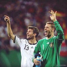 Thomas Müller and Manuel Neuer #DieMannschaft
