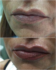 Ritocco contorno labbra con riempimento - pigmento Biotek