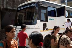 The mobile One-Stop Breast Clinic contains a complete mammography practice, offering vital health services and easier access to medical treatment for Indian women's health in and around Mumbai.