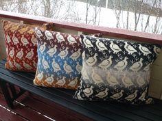 Fair Isle birds Knit Pillow, Knitted Pillows, Throw Pillows, Fair Isle Knitting, Double Knitting, Color Patterns, Knit Crochet, Cushions, Knitting Machine