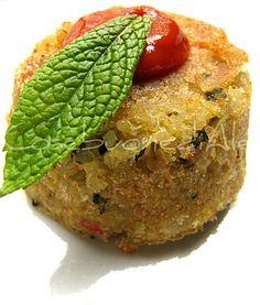 quinoa con verdurine e salsa al peperone