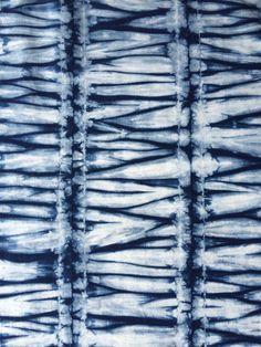 Indigo Shibori Fabric Hand Dyed Fat Quarters by CapeCodShibori