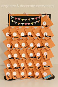 Halloween Countdown Using Standing Rack by Create-ologie - Organize and Decorate Everything