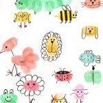 33 Fingerprint Images that make painting an experience - SUPER IDEAS Thumbprint Crafts, Fingerprint Crafts, Art Drawings For Kids, Drawing For Kids, Diy For Kids, Crafts For Kids, Finger Art, Thumb Prints, Hand Prints