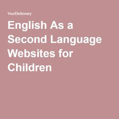 One of the most important features of many English As a Second Language websites for children is that many are interactive. Teach English To Kids, Spanish Lessons For Kids, Learn To Speak Spanish, Spanish Basics, Esl Lessons, English Lessons, Teaching English, Learn English, Spanish Class
