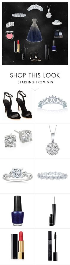 """""""Untitled #8"""" by cecilie-smukke ❤ liked on Polyvore featuring beauty, Marchesa, Bling Jewelry, Crislu, Allurez, Harry Winston, OPI, MAC Cosmetics, Chanel and Christian Dior"""