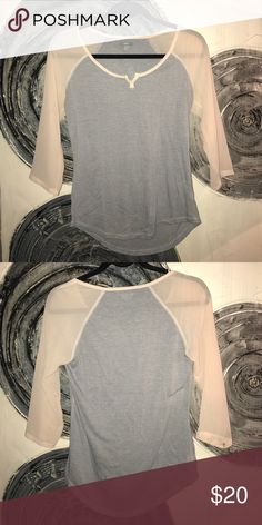 Aerie top Has chiffon sleeves. Very light and comfy aerie Tops Tees - Long Sleeve