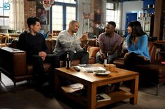 "#NewGirl 4x19 ""The Right Thing"" - Schmidt, Coach and Cece help Winston navigate his relationship with his police partner."