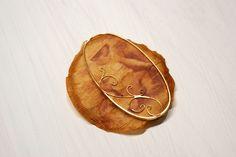 Leila Arzaghi - Brooch-Tea bag, Gold, Ruby