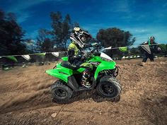 New 2016 Kawasaki KFX 90 ATVs For Sale in Florida. 2016 Kawasaki KFX 90, 50th Anniversary Sales event! Save $600 Now at Kissimmee Motorsports! sale price includes all rebates. 2016 Kawasaki KFX® 90 THE KAWASAKI DIFFERENCE The KFX®90 ATV provides the ideal blend of size and performance for riders 12 and older that are stepping-up from a 50cc ATV or just getting started. Features May Include: 89cc four-stroke engine and automatic transmission delivers broad power delivery with plenty of…