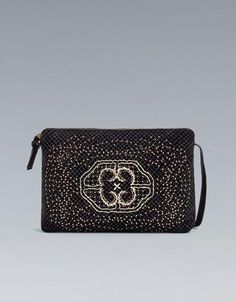 Zara clutch with micro studs $29