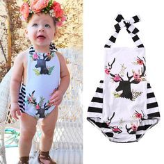>> Click to Buy << Newborn Baby Girls Cotton Clothes Bodysuit Xmas Clothing Cute Animals Jumpsuit Playsuit Baby Girl Boy Outfits #Affiliate