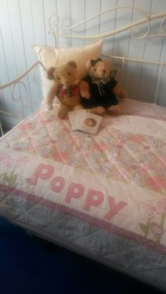 Personalised baby quilt for a beautiful little girl