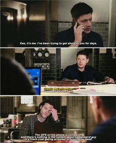 """I really thought Dean was going to say something like """"call me babe"""" some destiel but not really. Maybe this Thursday"""