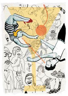 Aga Pietrzykowska #Polish Illustration #Coctail Party Effect #great illustrators