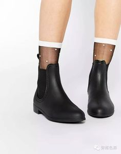 Shop for women's flats with ASOS. Discover our selection of ballet flats, oxfords, brogues, loafers, and flat boots in a range of styles and colors. Flat Boots, Shoe Boots, Shoes Heels, Brogues, Loafers, Womens Flats, Rubber Rain Boots, Black Shoes, Chelsea Boots