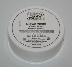 Clown White 2.25 theatrical circus face paint stage makeup mime cosmetic Mehron  #Mehron