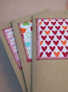 paper and fabric cards