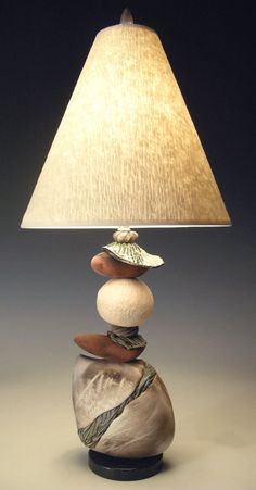 Jacque Frost by Jan Jacque: Ceramic Table Lamp available at www.artfulhome.com