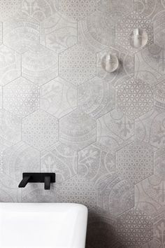 Beautiful tiles featured in the Williamstown property on Grand Designs Australia. Beautiful bathroom design!