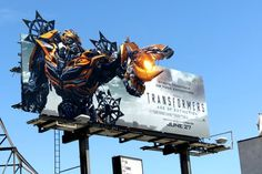 Transformers: Age of Extinction billboard Transformers Age, Pushing Boundaries, Event Marketing, Paramount Pictures, What Is Love, Digital Media, Billboard, Creative Design, Entrepreneur
