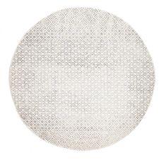 Nile Grey Diamond Distressed Round Rug