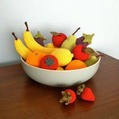 Fruits et legumes au crochet / automne / fete des par LittleConkers