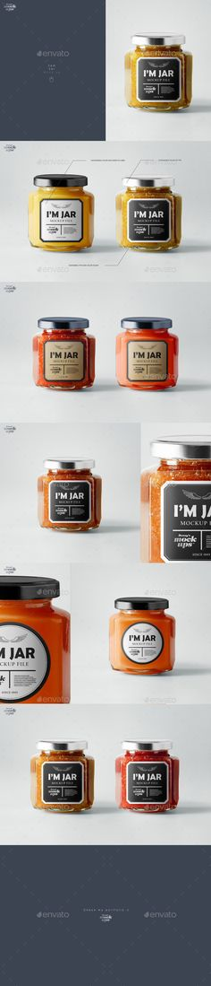 Jam Jar Mockup. Download here: http://graphicriver.net/item/jam-jar-mockup/16533947?ref=ksioks