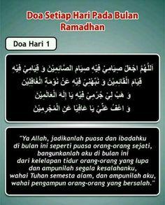 Doa Hari Pertama Bulan Ramadan