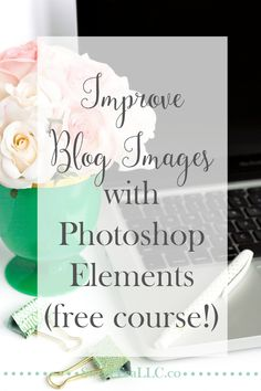 Blog images are supposed to attract readers and draw them in so they will want to read your posts. This free Photoshop Elements course from Kelly, blogger behind Here Comes the Sun, shows you the basics to help you improve your blog images without buying expensive equipment.