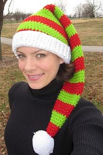 fa6c84b60d4 Free Crochet PatternCONVIVIAL CRAFTER  Silly Simple Elf Hat Crochet Santa  Hat