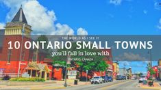 Discover the top Ontario small towns you'll fall in love with. From lake fronts to great shops, and delicious bakeries, you'll want to explore them all. Ontario Place, Top Places To Travel, Alberta Travel, Ontario Parks, Ontario Travel, What A Beautiful World, Canadian Travel, Visit Canada, Small Towns