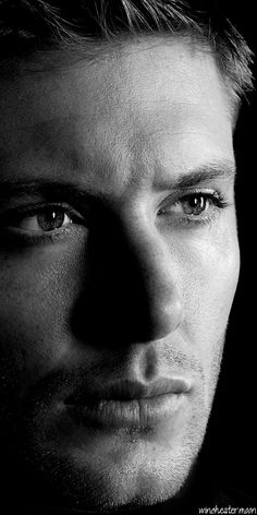 Jensen - gorgeous, as always, in black and white...