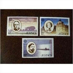 Jersey 1985 Europa Music Year set mint postage stamps GB SG357-9 CEPT Debussy Ireland composers