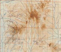Detail of the map of Gallipoli, with extra topographical colouration and annotations.