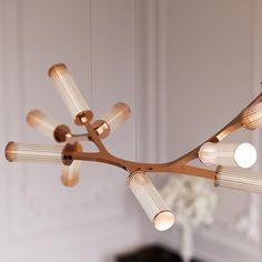 The Haara pendant has elegance at its heart. The branching frame has a delicate yet finely engineered structure derived from close observation of nature. Office Lighting, Unique Lighting, Interior Lighting, Lighting Design, Glass Pendant Light, Chandelier Pendant Lights, Glass Pendants, Deco Led, Luminaire Led
