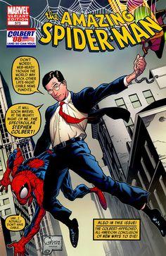 Top Celebrity Cameo Appearances In Marvel Comics - Stephen Colbert
