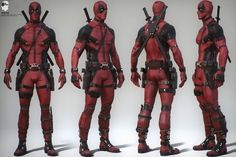Post with 1655 views. Deadpool Movie Costume Concept Art by Joshua James Shaw Deadpool Movie Costume, Deadpool Cosplay, Deadpool 2016, Deadpool Art, Female Deadpool, Deadpool Stuff, Lady Deadpool, Character Modeling, 3d Character