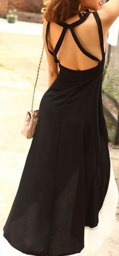 Black Strappy Backless Dress <3 Great for a date night