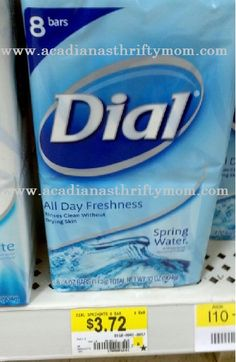 Buy 2, get 1 Free of any Dial or Tone Bar Soaps