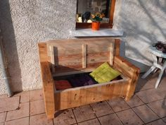 handcrafted wooden pallet sofa with storage