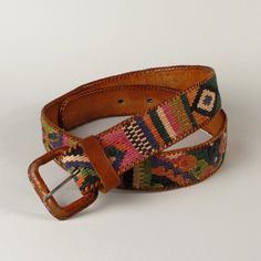 Vintage Southwest Woven Leather Belt