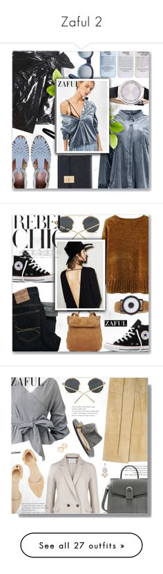 """""""Zaful 2"""" by jiabao-krohn ❤ liked on Polyvore featuring Thom Browne, Isabel Marant, ASOS, philosophy, zaful, Converse, Hollister Co., Whistles, Barbara Bui and J.Crew"""