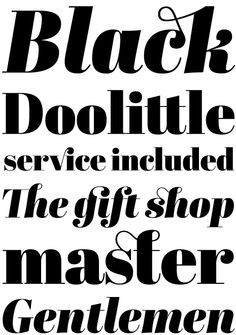 Abril Display Black by José Scaglione  and Veronika Burian (Type Together) 01.2012