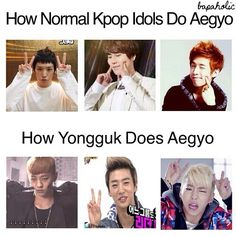 YongGuk's Aegyo is just so awesome and bad-ass that no other idol can reach his level
