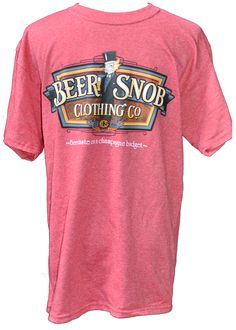 Beer Snob Clothing Co. Logo Tshirt- Fabulously soft & preshrunk. Buy today your new fav! $19.99